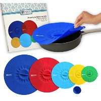 Homeway Essentials Silicone Suction Lids - Food Cover, Microwave Cover, Bowl Cover - Gift Set by...