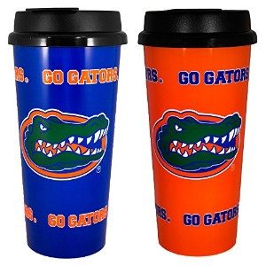 Whirley Drink Works Gameday Novelty NCAA Florida Gators Insulated Travel Tumbler with No Spill Flip...
