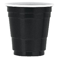 Unique Industries Plastic Shot Glasses (20 Pack), 2 oz, Black by Unique Industries