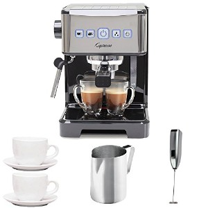 Capresso 12401 Ultima PRO Programmable Espresso and Cappuccino Machine with 2 Cup and Saucers (3 oz...
