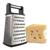 iCooker Cheese Grater [Stainless Steel] 4 Sided Box Grater - Premium Quality Zester for Vegetables,...