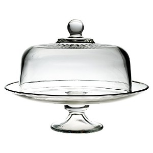 Anchor Hocking 13 Inch Tiered Glass Serving Platter with Annapolis Cake Dome by Anchor Hocking