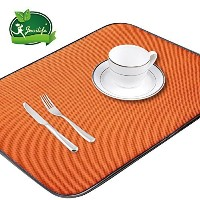 Jovilife Dish Drying Mat Kitchen Mat(set of 2) Microfiber Absorbent Washable, 18*24 Inch, Orange by...