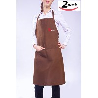 Dworth kitchen Apron with 2 pockets,Durable, Comfortable, Easy Clean Garden Work Apron-Set of 2 ...
