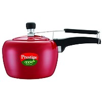 Prestige Apple Aluminum Red Color Pressure Cooker, 3-Liter [並行輸入品]
