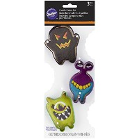 Wilton 3-Piece Monster Halloween Cookie Cutter Set by Wilton