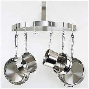 Cuisinart CRHC-22B Chef's Classic Half-Circle Wall-Mount Pot Rack, Brushed Stainless [並行輸入品]