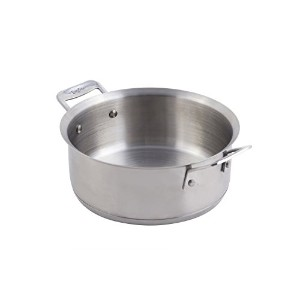 Bon Chef 60000 Stainless Steel Induction Bottom Cucina Casserole, 3 quart Capacity, 11-13/32'...
