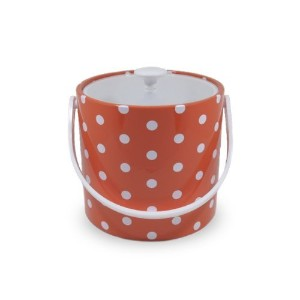 Mr. Ice Bucket 704-1D Polka Dots Ice Bucket, 3-Quart, Orange [並行輸入品]