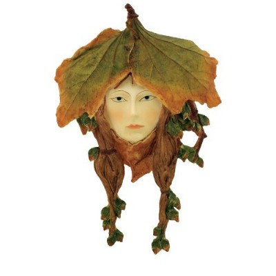 Top Collection Enchanted Story Fairy Garden Leafy Green Woman Plaque [並行輸入品]