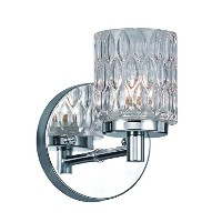 Trans Globe Lighting Textured Bistro Glass Wall Sconce Light, Polished Chrome by Trans Globe...