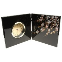 Kotobuki Japanese Lacquer Clock with Cherry Blossom Design [並行輸入品]