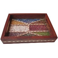Serving Tray Made with Crushed Gem Stones、必要for Home & Officeの目的をServingで従来のスタイル。