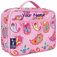 Personalized Olive Kids Pink Paisley Lunch Box by WK