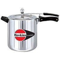 Hawkins Classic CL8W 8 L Aluminum Wide Body Pressure Cooker, Medium, Silver [並行輸入品]