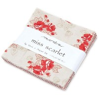 Miss Scarlet Charm Pack By Minick & Simpson; 42 - 5 Precut Fabric Quilt Squares by moda