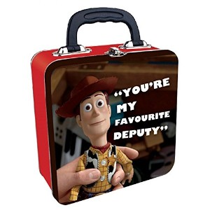 "Woody "" You 're My Favourite Deputy "" Square Tin Tote"