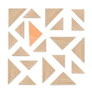 Triangle Bamboo Refridgerator Magnets by Kit