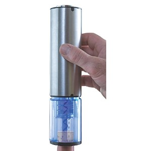 Wine Enthusiast Electric Blue Automatic Wine Opener, Stainless Steel [並行輸入品]