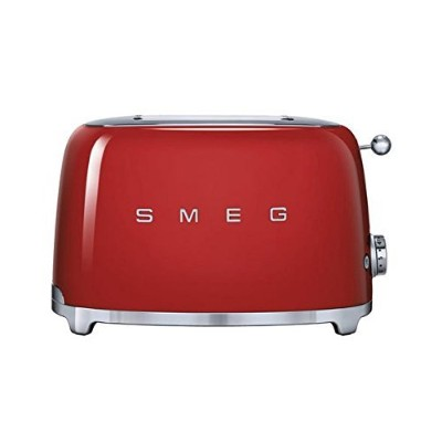 Smeg TSF01RDUS 50's Retro Style Aesthetic 2 Slice Toaster, Red [並行輸入品]
