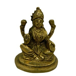 Pure Brass Metal Laxmi Sitting in Fine Finishing and Decorative art by Bharat Haat BH04218