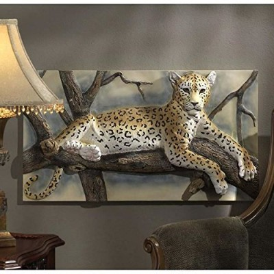 Design Toscano The Leopards Lair Sculptural Wall Frieze [並行輸入品]