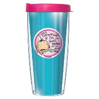 co-edikit Good SisterまたはEvil SisterタンブラーMug with Lid 16 Oz ブルー