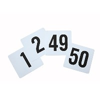 Winco TBN-50 1-50 Plastic Table Numbers [並行輸入品]