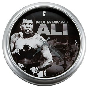Vandor 45089 Muhammad Ali Large Metal Wall Clock, Multicolored [並行輸入品]