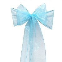 Calcifer@ 50pcs 7x108 Inch Soft Elegant Organza Bowknot Chair Cover Sashes Bows Ribbons for Party...