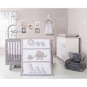 Trend Lab Safari Chevron 3 Piece Crib Bedding Set, Black/White [並行輸入品]