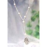 One of A Kind セレブ愛用ネックレスPARL/Hamsa SILVER [ジュエリー]