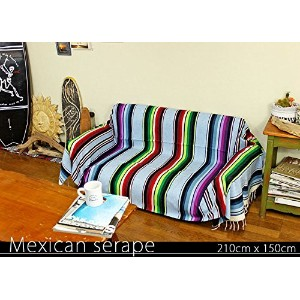 RUG&PIECE Mexican Serape made in mexcico ネイティブ メキシカン サラペ メキシコ製 210cm×150cm