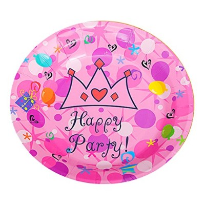 Zhhlinyuan 良質 50 PCS Birthday Party Disposable Cake Round Tray Multicolor