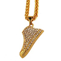 MCSAYS ヒップホップ ファッション hiphop ネックレス ブーツ ネックレス MCSAYS Mens 18 Gold Sneaker Pendat with Rhinestone...