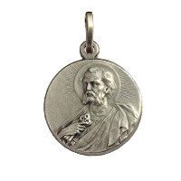 "メダル-925-サンピエトロアポストロ""925 sterling silver medal""Saint Peter The Apostle"""