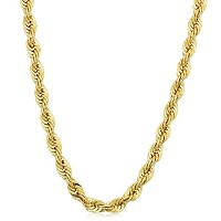 """14K Yellow Gold filled Solid Rope Chain Necklace, 4.5mm, 18"""""""