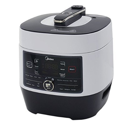 Midea MY-SS6062 Power 8-in-1 Multi-Functional Programmable Pressure Cooker, 6Qt/1000W Stainless...