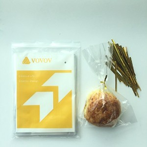 """VOVOV 200x 6x 8""""クリアフラットCello /セロファンTreat Bags Good for Bakery、Candle、Soap、クッキー–1.2Mil–200x..."""