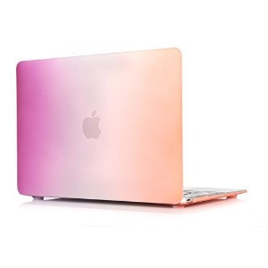 MacBook Air 13-inch Case,Soundmae Matte Rubberized Rainbow Colorful Hard Cases Cover For Macbook 13...