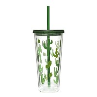 High Quality 16oz Insulated Double-Walled Acrylic Tumbler With Lid And Straw, BPA-Free Acrylic,...