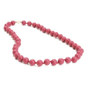 Chewbeads Jane Teething Necklace, 100% Safe Silicone - Spiced Wine by Chewbeads