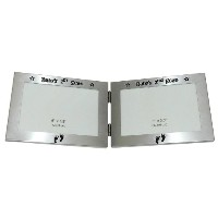 Baby's 1st Scan Picture & Baby's 2nd Scan Picture ' - Twin Folding Expressions Photo Picture Frame...
