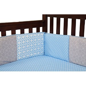 Trend Lab Logan Crib Bumpers, Blue by Trend Lab