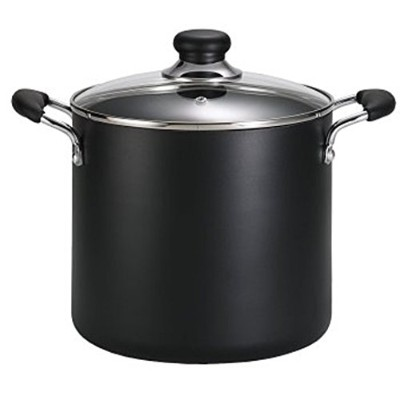 T-fal A92279 Specialty Total Nonstick Dishwasher Safe Oven Safe Stockpot Cookware, 8-Quart, Black...