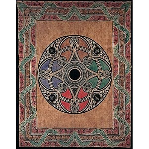 Tan Celtic Ball Indian Bedspread, Double Size by India Arts