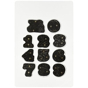 Sizzix Movers & Shapers Magnetic Dies By Tim Holtz 11/Pkg-Cargo Stencil Numbers (並行輸入品)