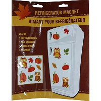 Fall Harvest Refrigerator Magnets ~ Fun Autumn Theme Decorations (Owls ~ Pumpkins ~ Leaves) by...