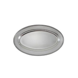 Winco OPL-14 Stainless Steel Oval Platter, 14-Inch by 8.75-Inch by Winco [並行輸入品]