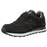 New Balance 574 WOMENS BLACK HI ROLLER Black / Leopard US-5.5 ニューバランス 574 黒 / レオパード レディース 22.5cm ...